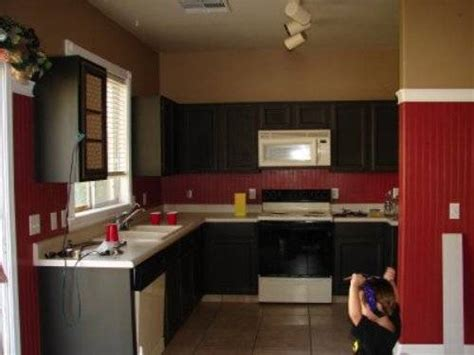 black kitchen cabinets with walls the interior