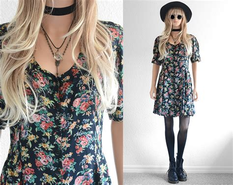 90s Floral by 90s Floral Dress 90s Grunge Dress Floral Mini Dress Rayon
