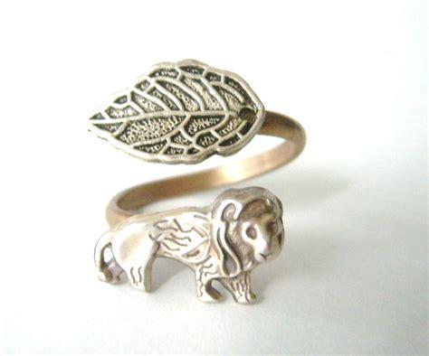 silver wrap ring adjustable ring animal ring on luulla