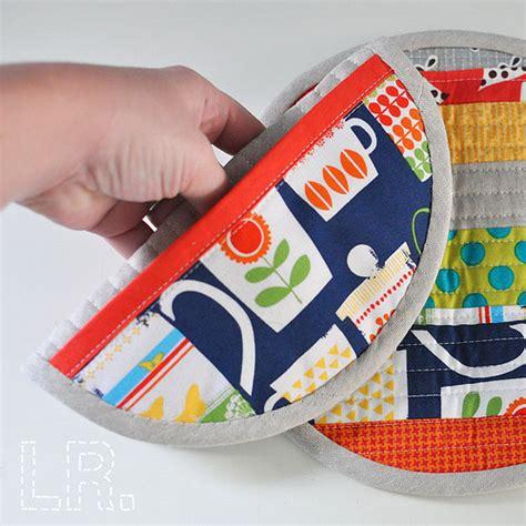 Patchwork Potholders - zakka style patchwork potholders 187 lrstitched