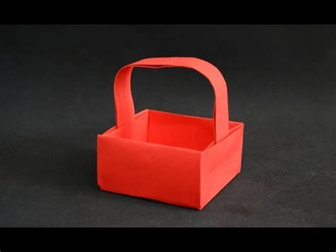 Origami Basket With Handle - paper origami basket with handle doovi