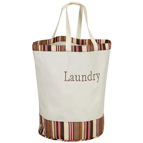 Labeled Canvas Laundry Bag Stripes In Laundry Bags Canvas Laundry Bag