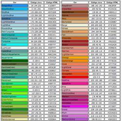 html colors codes mcbeth html color codes