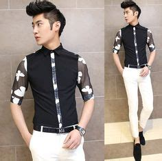 Kemeja Slim Fit Casual Pattern White Sailor find more casual shirts information about aliexpress retail fashions s v neck dress