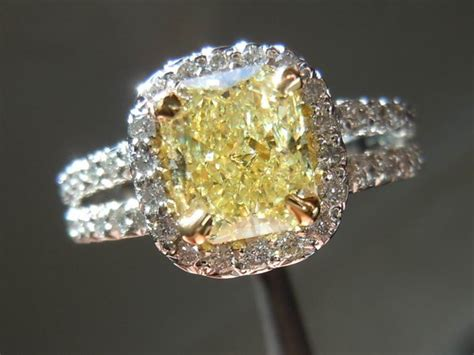 yellow diamonds in the light fancy light yellow radiant cut