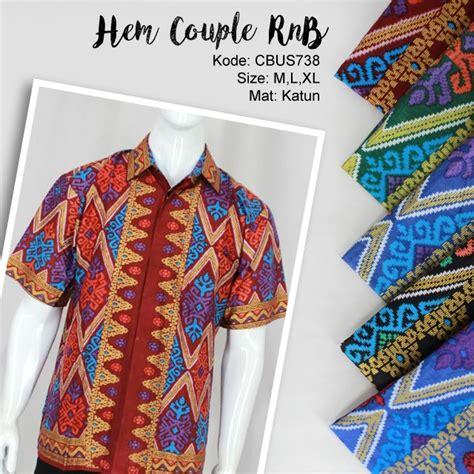 Hem Batik Songket Dolken Motif 2 Promo hem family rnb motif songket kemeja lengan pendek murah batikunik
