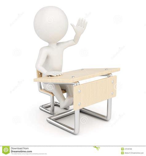 white school desk 3d student stock illustration image 47516756