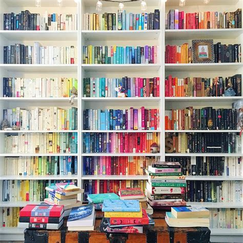 Book Bookshelf Rainbow Bookshelves Are The Easiest Way To Beautify Your