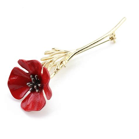 Flower Collar Brooch mdiger brand fashion poppy flower brooch vintage