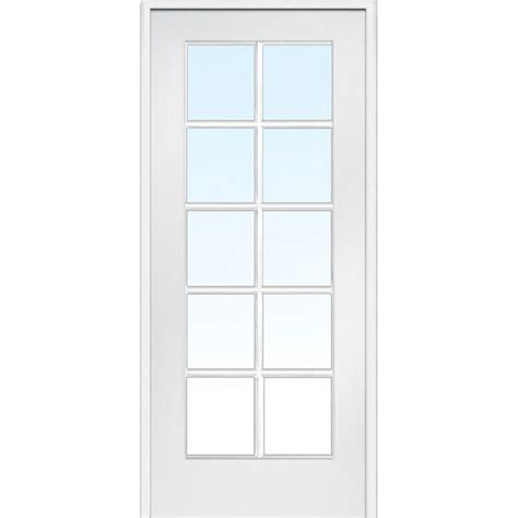 single door milliken millwork 31 5 in x 81 75 in classic clear glass