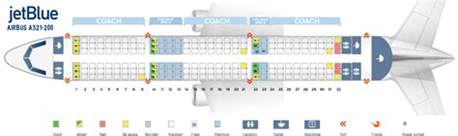 seat map airbus a321 200 quot jetblue quot best seats in plane
