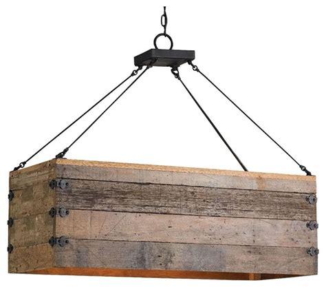 chandeliers montreal reclaimed wood crate chandelier rustic kitchen island
