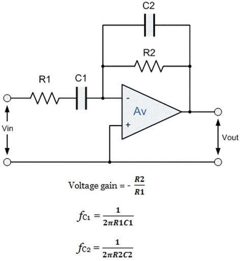 high pass filter gain bandpass filter active bandpass filter q