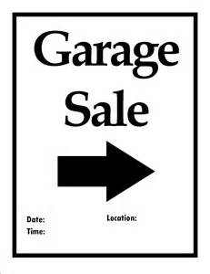 garage sale template free printable items to organize your next move