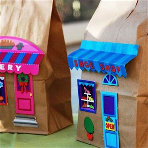 Paper Bag House Craft - paper bag buildings things to make and do crafts and