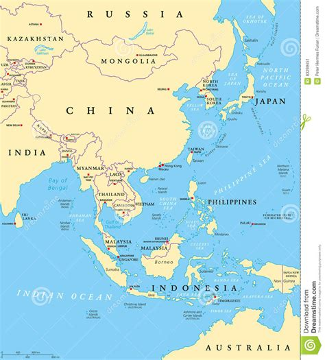 asia political map asia political map vector illustration cartoondealer 17966676