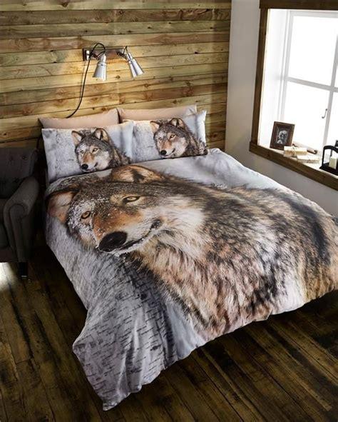 wolf bedroom new animal print duvet sets zebra leopard safari wolf