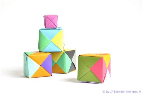 Simple Origami Cube - 40 best diy origami projects to keep your entertained