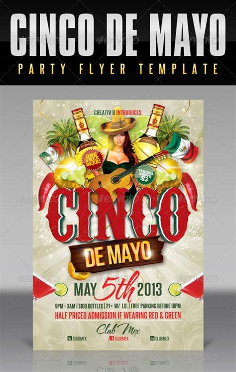Graphicriver Cinco De Mayo Party Flyer Template 4514296 Cinco De Mayo Template