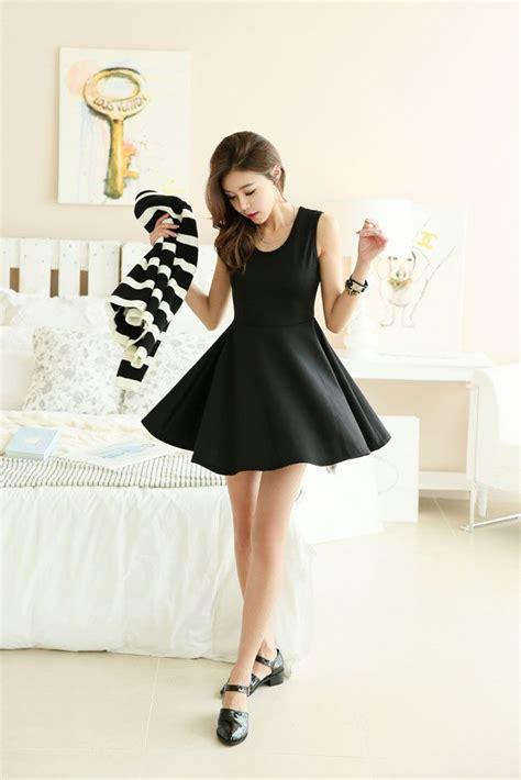 Flare Dress Korea sleeveless flare dress korean dresses korean fashion dresses and flare