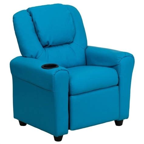 turquoise leather recliner kids faux leather recliner in turquoise dg ult kid turq gg