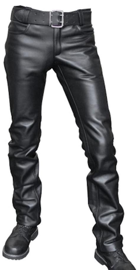 pantalon cuero hombre pantal 243 n en cuero para hombre comprar en leoncueros