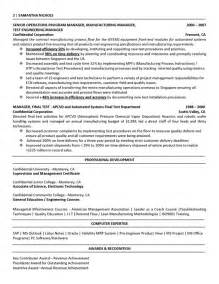 Industrial Engineering Resume Exles by Manufacturing Engineer Resume Best Template Collection