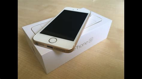 iphone se gold unboxing youtube