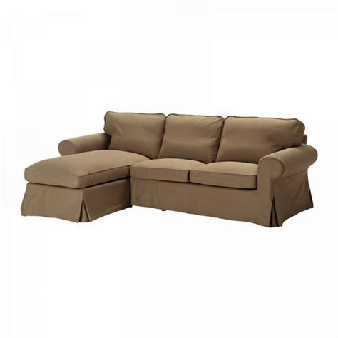 Sectional Sofa Covers Ikea Ikea Ektorp 2 Seat Loveseat Sofa With Chaise Cover Slipcover Idemo Light Brown