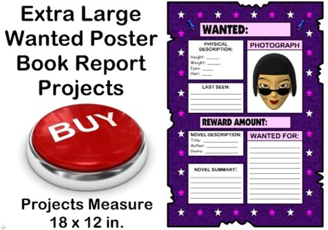 book report wanted poster template wanted poster book report project templates worksheets
