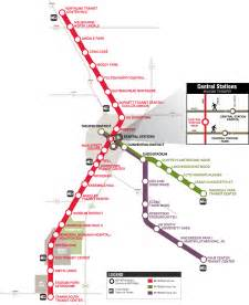 Houston Metro System Map by Metrorail
