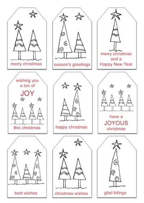 printable gift tags to color free christmas printables gift tags and notepaper with