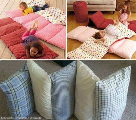 how to make a pillow bed diy floor pillow bed easy to follow video instructions