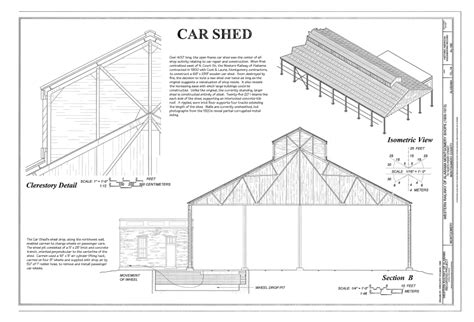 shed roof section file car shed clerestory detail section and isometric