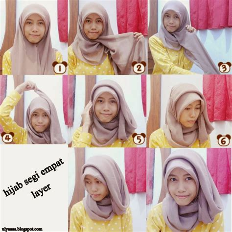 tutorial hijab pashmina pesta simple 16 tutorial hijab syar i segi empat simple dan mudah