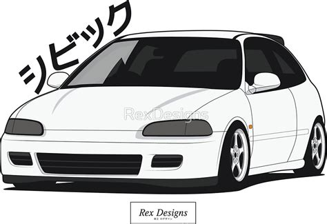 Honda Sticker Redbubble by Quot Honda Civic Eg Quot Stickers By Rexdesigns Redbubble