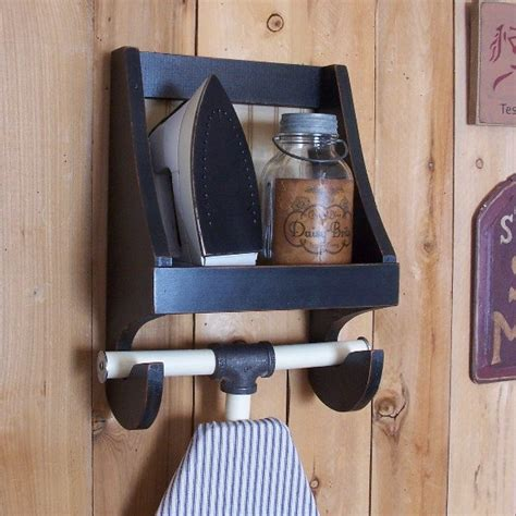 ironing board storage shelf for the laundry room wooden