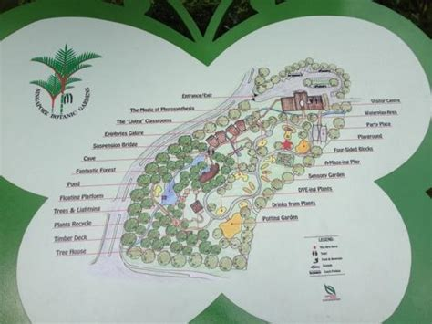 Map Of The Area Picture Of Singapore Botanic Gardens Botanical Gardens Singapore Map