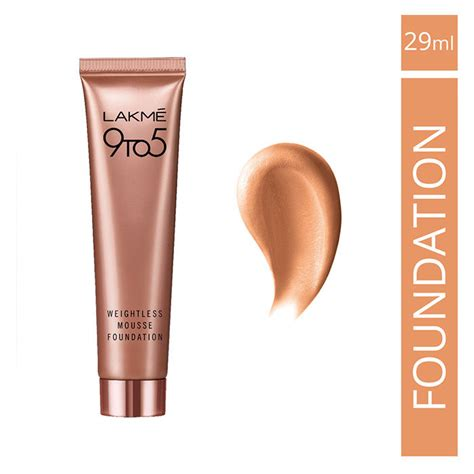 lakme 9 to 5 weightless mousse foundation review lakme 9 to 5 weightless mousse foundation rose ivory 29 g