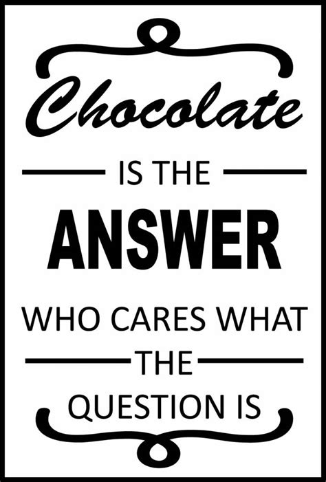 Is The Answer muursticker chocolate is the answer versierendoejezo