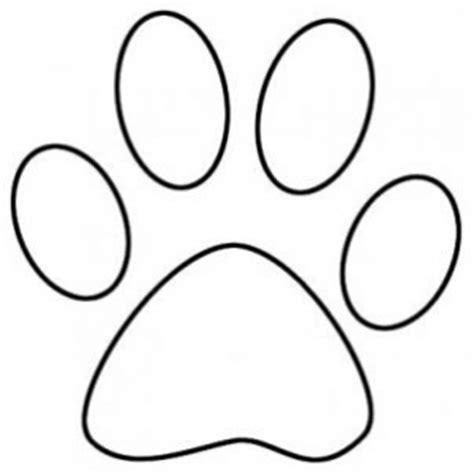 Bobcat Paw Print Outline by Bobcat Paw Print Clip Clipart Image 1113