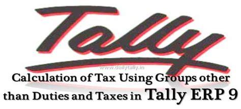 calculation  tax  groups   duties