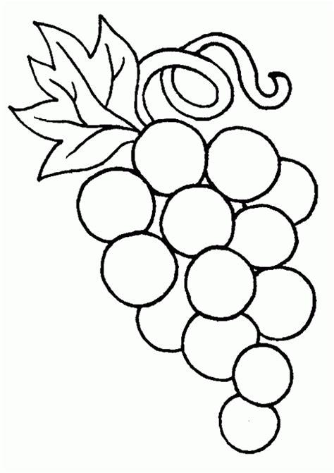 purple grapes coloring page uva dibujo imagui