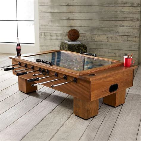 Coffee Table Foosball Brown Foosball Coffee Table