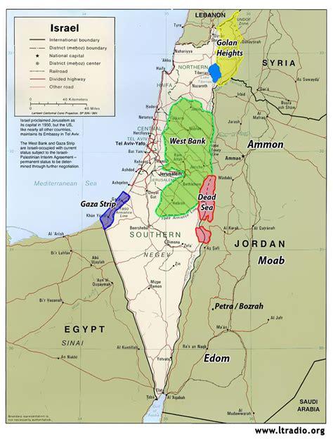 israel map  israel satellite image
