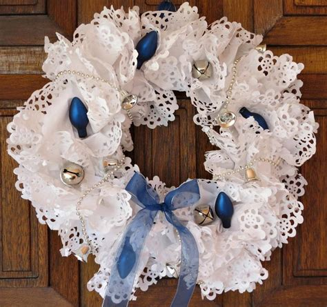Paper Doily Craft Ideas - 17 best images about winter wreath on