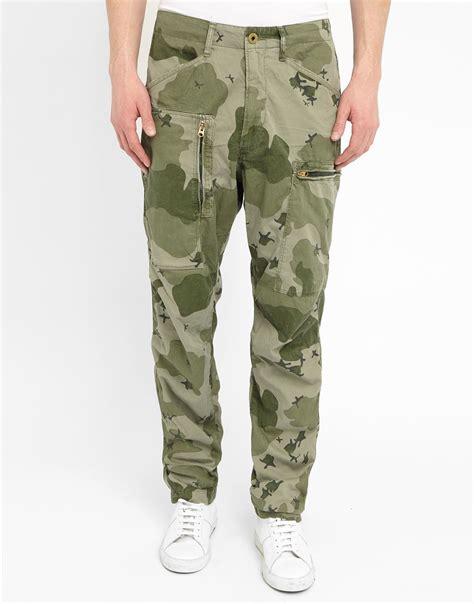 Ok Army Pocket g khaki powel camouflage cargo trousers with zipped side pocket in green