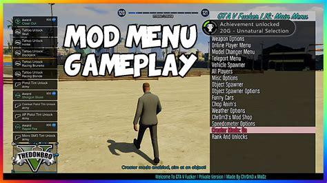 mod gta 5 jtag gta 5 online mod menu gameplay chr0m3xmodz mod