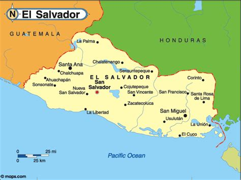 map of el salvador countrywatch elections central