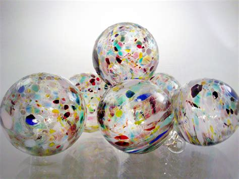speckled ornaments set of 6 end of day multi colored